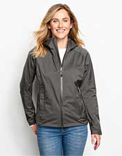 Our waterproof Women's Ultralight Storm Jacket performs impressively without weighing you down.