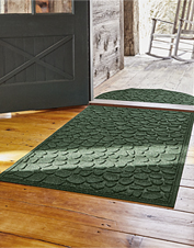 Place the Riverstones Recycled Water Trapper Mat at your door and leave dirt where it belongs.