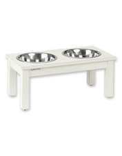Our raised Acacia Wood Dog Feeder is a functional, durable, and attractive mealtime solution.