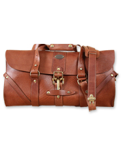 This rugged No. 1 Grip American Buffalo leather travel bag is the jetsetter's dream come true.
