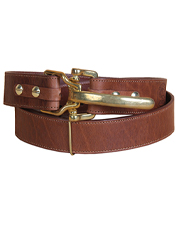 This No. 5 Cinch Belt in buffalo leather adds a handsome conversation piece to your wardrobe.