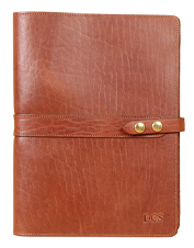 Documents and a notepad fit perfectly in this roomy leather No. 18 American Buffalo Portfolio.