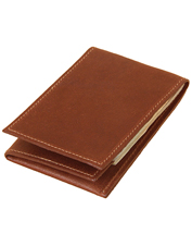 This slim, vintage brown leather No. 102 Billfold tucks into a front pocket for easy carry.