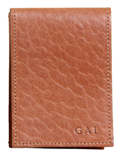 Carry cash and cards in this front pocket No. 102 Billfold made with American buffalo leather.