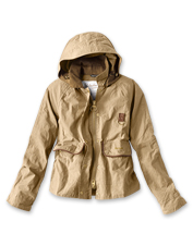 The lightweight Re-Engineered Spey Jacket by Barbour zips and snaps out inclement weather.