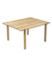 Furnish the campsite with this packable Folding Top Portable Wood Table for a sturdy surface.