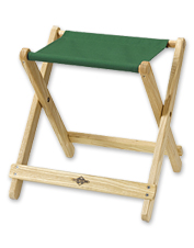 This handsome Folding Camp Stool allows you to kick your feet up, then collapses to store away.