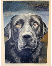 Celebrate your dog with an original custom oil painting of your loyal companion's likeness.