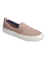 These Crest Slip-Ons by Sperry boast suede for style and Plushwave cushioning for easy comfort.
