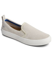 Exceptional comfort makes the perforated suede Sperry Crest Slip-Ons your go-to sneakers.