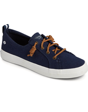 Crest Vibe Linen Sneakers by Sperry promise easy comfort, non-slip grip, and rugged durability.