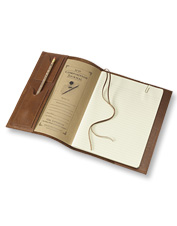 This American Buffalo Composition Journal is made with rich leather for durability and style.