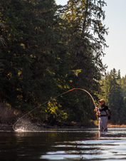 Join Orvis for a steelhead fly-fishing school at Alaska's Boardwalk Lodge.