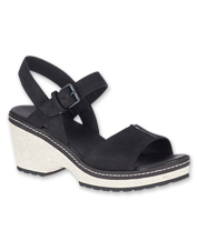 Halendi Strap Sandals by Merrell combine cushioned comfort and a bold, non-slip wedge heel.
