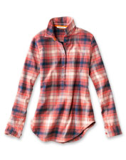 Enjoy superior performance—and help the planet—wearing our eco-friendly Tech Flannel Tunic.