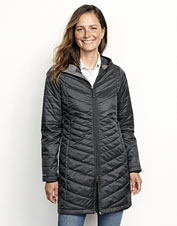 The Drift Parka is perfect for women who need the warmth and low bulk of Primaloft Gold.