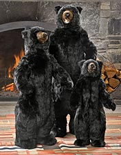 These lifelike standing bear statues will make a great addition to the entrance of your home.