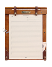 Keep this No. 9 Medium Wood Writing Board with you in the field or in your favorite armchair.