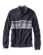 Sport a great-looking sweater all winter long wearing our Nordic Chest Stripe Quarter-Zip.