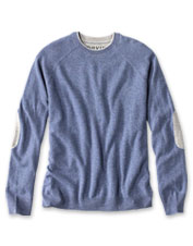 The warmth of wool and softness of cashmere make this crewneck a cool-weather essential.