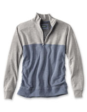Our Colorblock Quarter-Zip Sweatshirt is a lightweight layer that delivers ultimate comfort.
