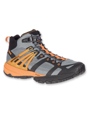 Agility and traction meet supportive comfort in the lightweight MQM Ace Mid Shoe by Merrell.