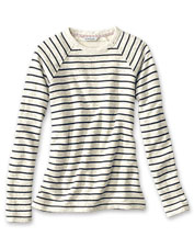 Our Marled Striped Sweatshirt in soft French terry is the one you'll live in all season.