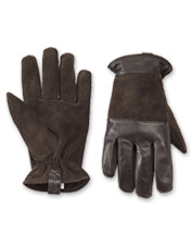 Exquisite texture and thoughtful details elevate these rugged leather and suede gloves.