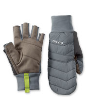 PRO Insulated Convertible Mitts are impressively convenient on cold-weather fishing trips.