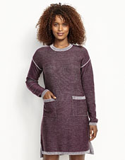 Our soft Signature merino wool makes this Two-Tone Sweater Dress an easy-to-wear classic.