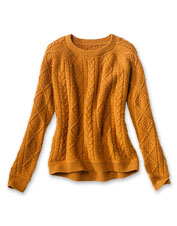 Indulgent warmth and a just-right weight—our Donegal Cable Crew Sweater offers both.