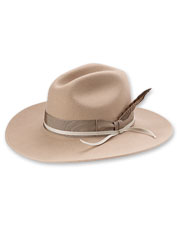 The merino wool felt makes this classic Western Trail Hat  soft and water-repellent.