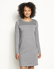 A favorite style, reimagined: Our Reverse Terry Sweatshirt Dress checks all the boxes.