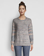 For standout goes-anywhere style, reach for our Artisanal Marled Yarn Crewneck Sweater.
