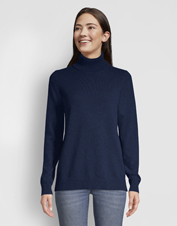 Our soft and breathable Classic Cashmere Turtleneck Sweater is the one you'll reach for all season.