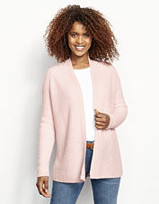 This jersey-knit cashmere cardigan makes a perfectly elegant lightweight layer.