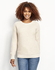 Earthy hues aren't the only eco-friendly trait in our Natural Cashmere Fisherman Sweater.