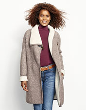 Our Left Bank Double-Knit Sweater Coat boasts an ultra-soft blend of luxury fibers.