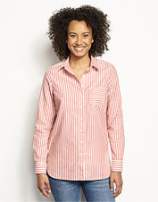 Colorful stripes at opposing angles add interest to our Lightweight Oxford Tunic.