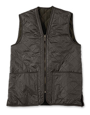 This diamond-quilted waistcoat from Barbour is sure to be your new favorite outerwear.