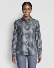 We love this Wrinkle-Free Twill Check Shirt for its pliant stretch and no-iron convenience.