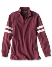 Washed pure cotton jersey gives our Football Quarter-Zip Pullover its lived-in appeal.