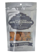 Hemp and mushroom bring a spectrum of health benefits to these crunchy dog treats.