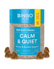 These Bingo dog treats come in two options—for calming, or as a supplement for hips and joints.