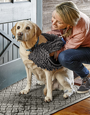 Count on this Super-Absorbent Drying Towel to clean up after your dog's wettest adventures.