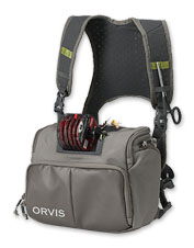 Enjoy accessibility and efficiency with the innovative Orvis fly-fishing Chest Pack.