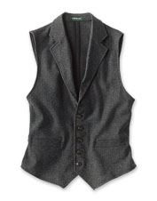 We made our customer-favorite wool vest in a casual, unconstructed wear-anywhere style.