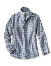 Our Double-Faced Popover offers effortless style in an attractive check shirt.