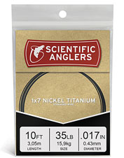 Net more toothy predators using this 1x7 Nickel Titanium Wire fly-fishing leader.