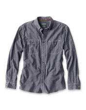 Hemp and organic cotton make this check shirt at once rugged and soft.